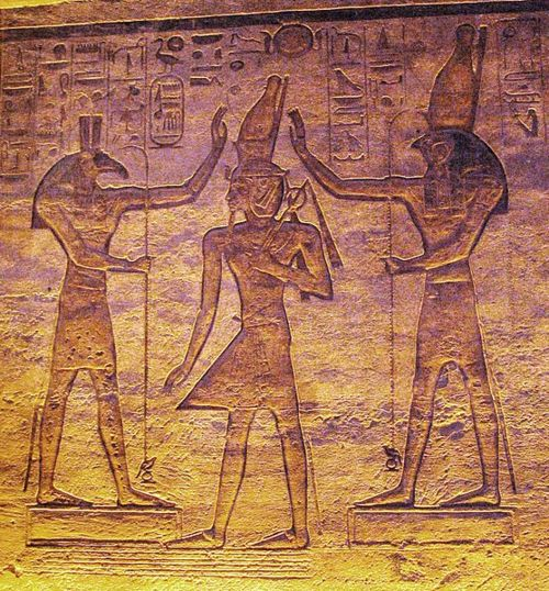 Horus y Seth - Templo Abu Simbel.